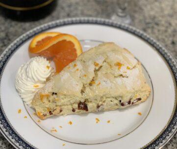 orange cranberry scone