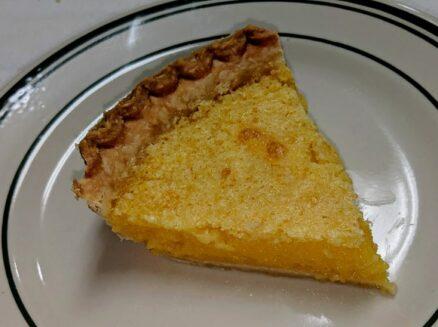 piece of lemon chess pie
